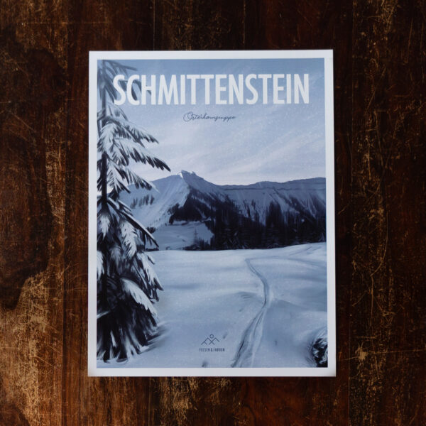 Retro Design Poster Schmittenstein