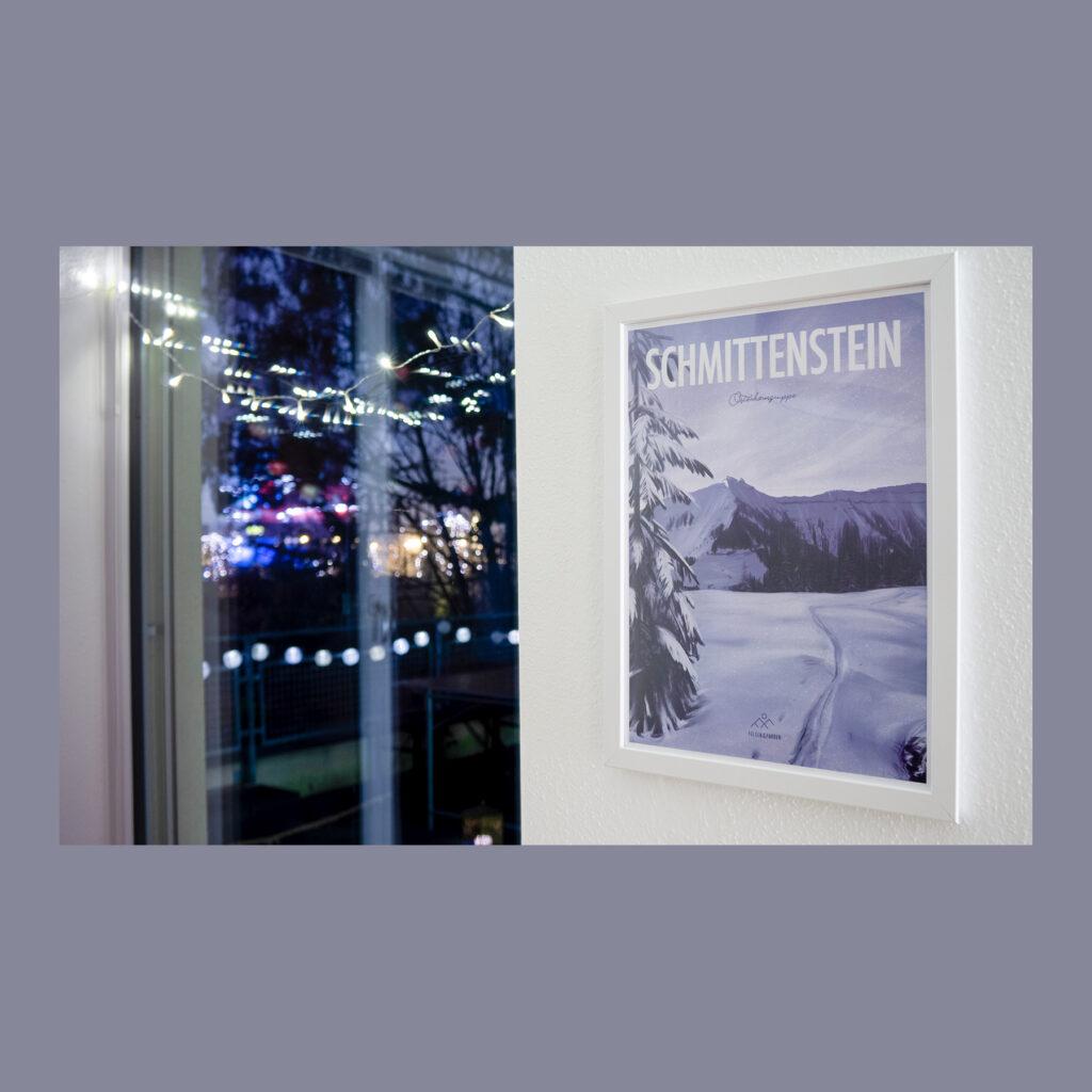 Günstiges Design Poster Traunstein Berg