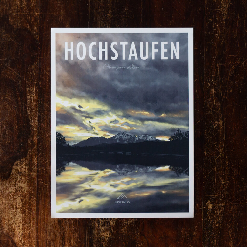 Retro Design Poster Hochstaufen