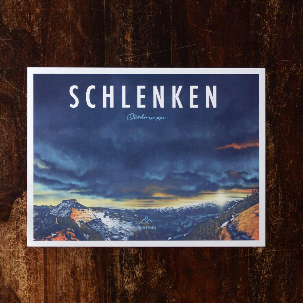 Retro Design Poster Schlenken