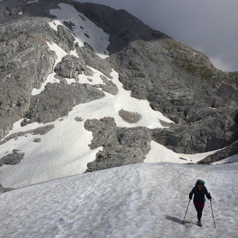 Schneefeld am hohen Göll