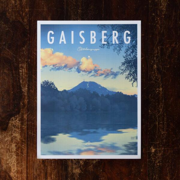 Retro Design Poster vom Gaisberg
