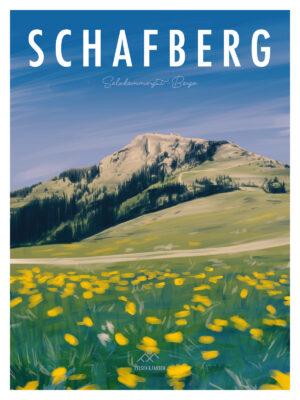 Schafberg Salzkammergut Poster