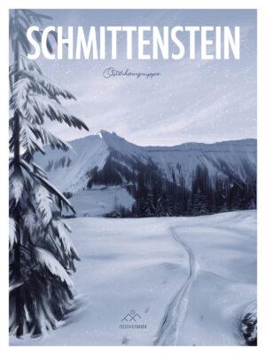 Skitour Hintersee Schmittenstein Poster
