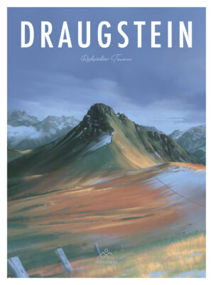 Draugstein Illustration Retro Poster