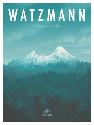 Watzmann Illustration Retro Poster